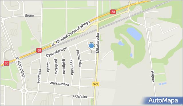 Zabrze, Wrzosowa, mapa Zabrza