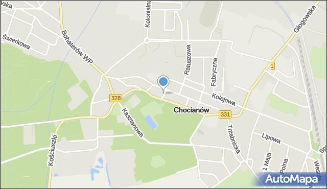 Chocianów, Wspólna, mapa Chocianów