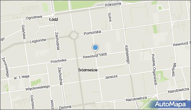 Łódź, Wschodnia, mapa Łodzi