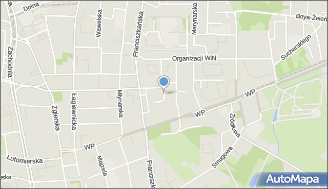 Łódź, Współzawodnicza, mapa Łodzi