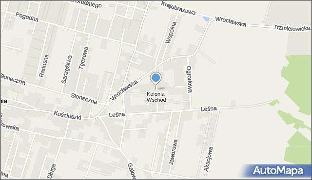 Lutynia gmina Miękinia, Wschodnia, mapa Lutynia gmina Miękinia