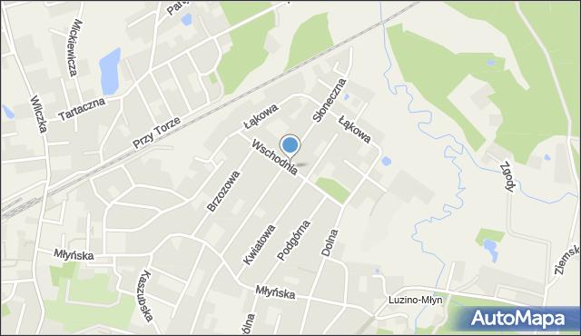 Luzino, Wschodnia, mapa Luzino