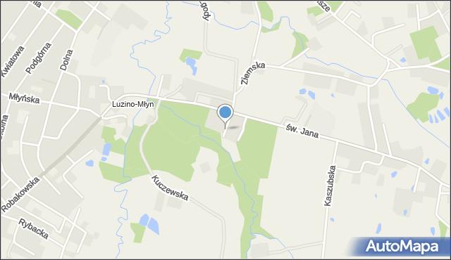 Luzino, Wspólna, mapa Luzino