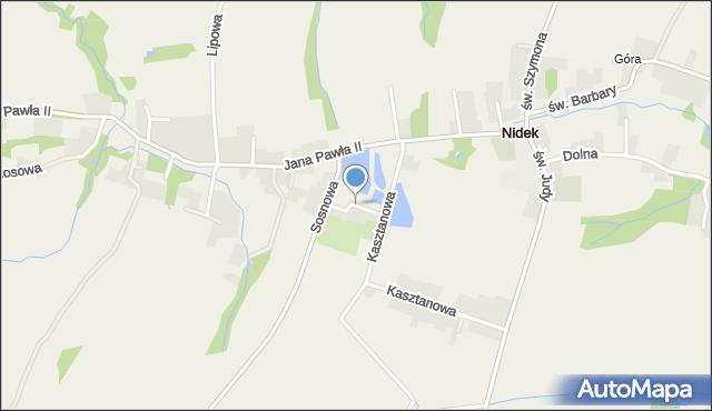 Nidek, Wspólna, mapa Nidek