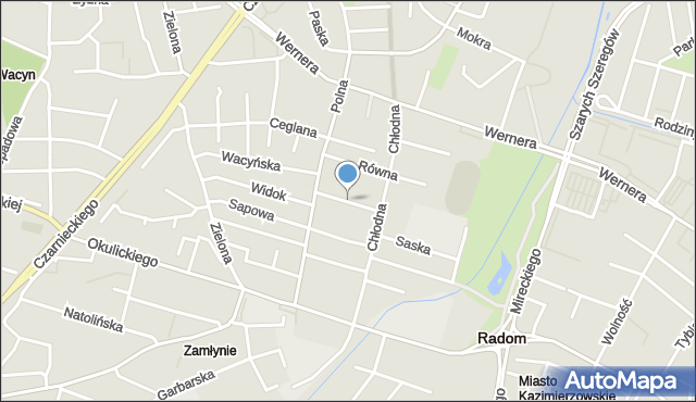Radom, Wspólna, mapa Radomia