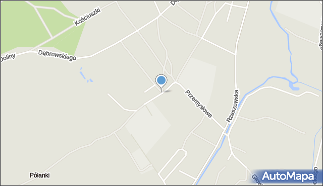 Rudnik nad Sanem, Wspólna, mapa Rudnik nad Sanem