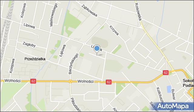 Sokołów Podlaski, Wspólna, mapa Sokołów Podlaski