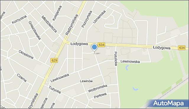 Warszawa, Wschodnia, mapa Warszawy