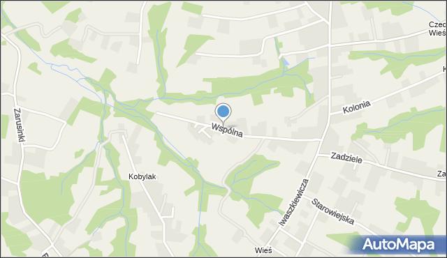Zakliczyn gmina Siepraw, Wspólna, mapa Zakliczyn gmina Siepraw