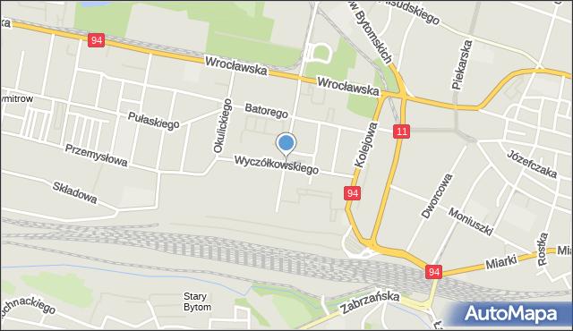 Bytom, Wyczółkowskiego Leona, mapa Bytomia