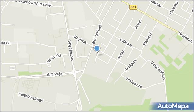 Chełm, Wybickiego Józefa, gen., mapa Chełma