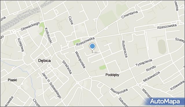 Dębica, Wyspiańskiego Stanisława, mapa Dębicy