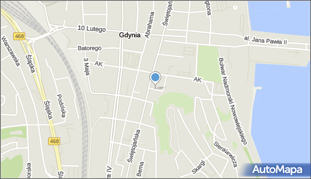 Gdynia, Wybickiego Józefa, gen., mapa Gdyni