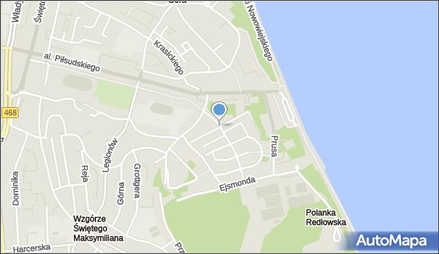 Gdynia, Wyspiańskiego Stanisława, mapa Gdyni