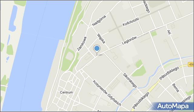 Grudziądz, Wybickiego Józefa, gen., mapa Grudziądza