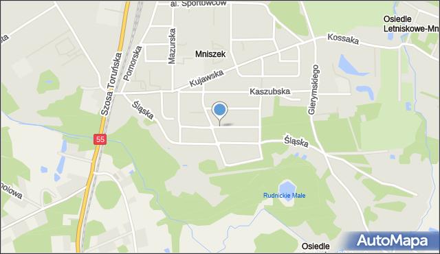 Grudziądz, Wyczółkowskiego Leona, mapa Grudziądza
