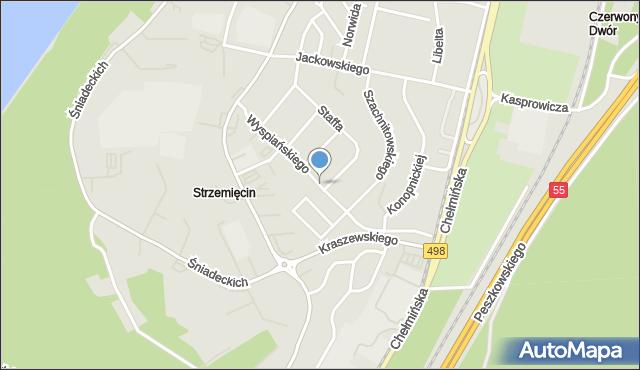 Grudziądz, Wyspiańskiego Stanisława, mapa Grudziądza