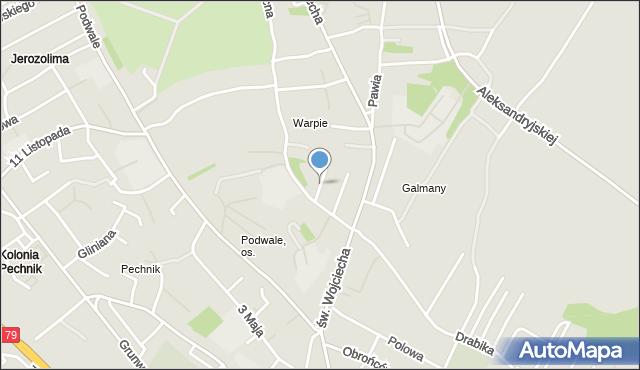 Jaworzno, Wysoka, mapa Jaworzno
