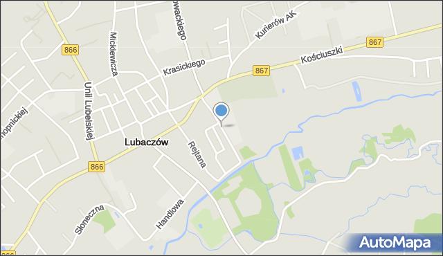 Lubaczów, Wyspiańskiego Stanisława, mapa Lubaczów