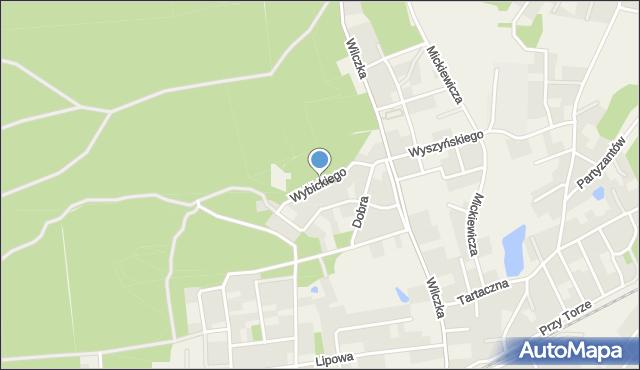 Luzino, Wybickiego Józefa, gen., mapa Luzino