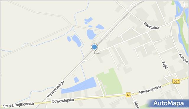 Nowa Wieś Ełcka, Wyszyńskiego Stefana, ks. kard., mapa Nowa Wieś Ełcka