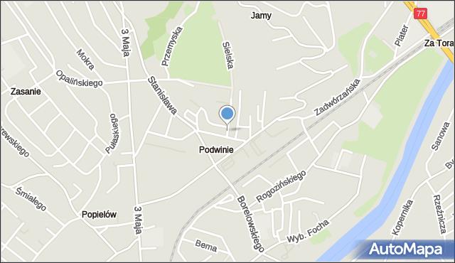 Przemyśl, Wybickiego Józefa, gen., mapa Przemyśla