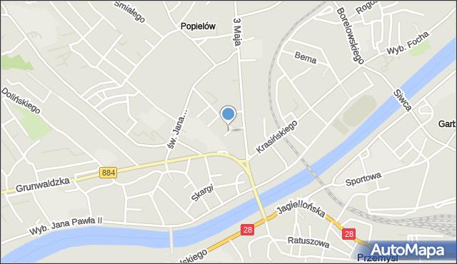 Przemyśl, Wyczółkowskiego Leona, mapa Przemyśla