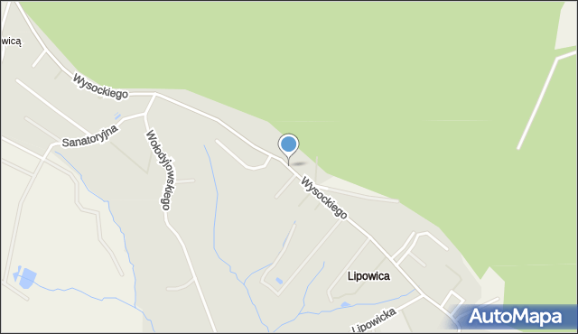 Przemyśl, Wysockiego Józefa, gen., mapa Przemyśla