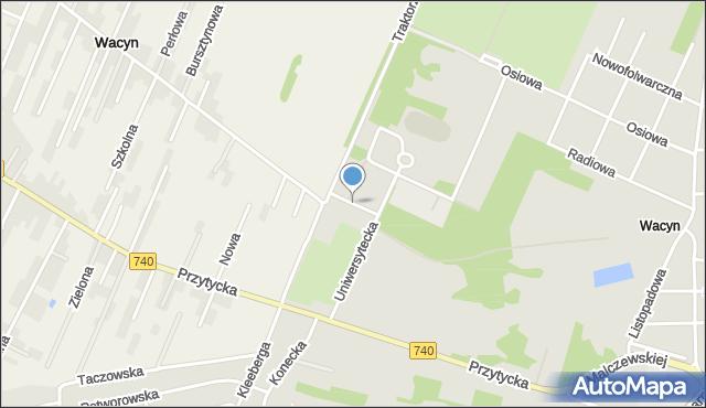 Radom, Wyborna, mapa Radomia
