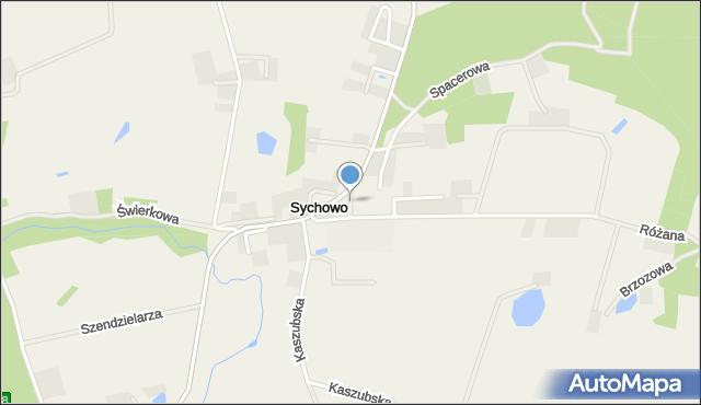 Sychowo, Wyszyńskiego Stefana, ks. kard., mapa Sychowo