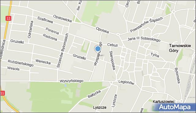 Tarnowskie Góry, Wyspiańskiego Stanisława, mapa Tarnowskie Góry