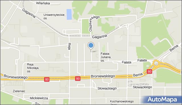 Toruń, Wyczółkowskiego Leona, mapa Torunia