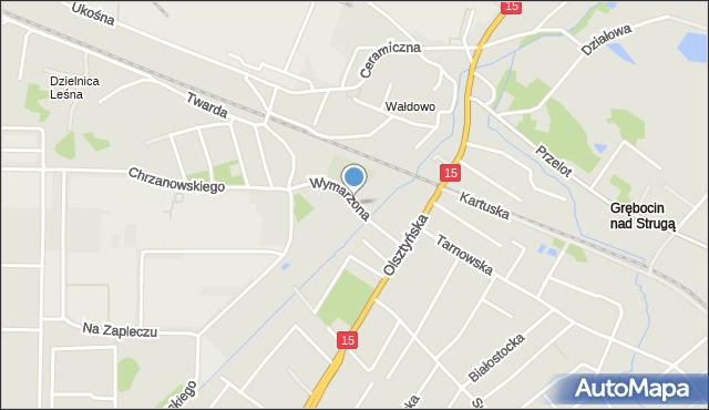 Toruń, Wymarzona, mapa Torunia