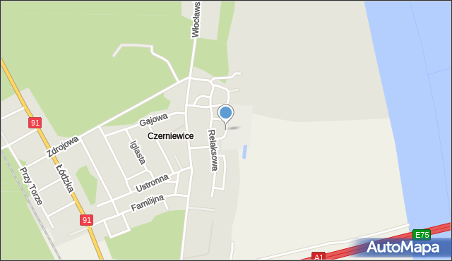 Toruń, Wypoczynkowa, mapa Torunia