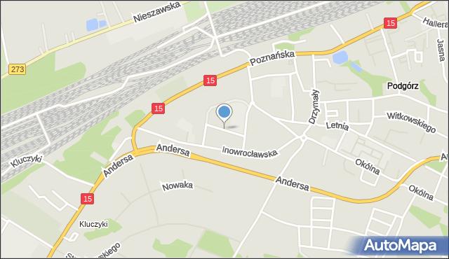 Toruń, Wyrzyska, mapa Torunia