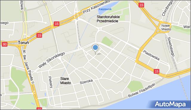 Toruń, Wysoka, mapa Torunia
