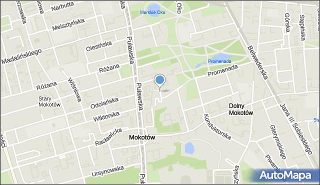 Warszawa, Wygoda, mapa Warszawy