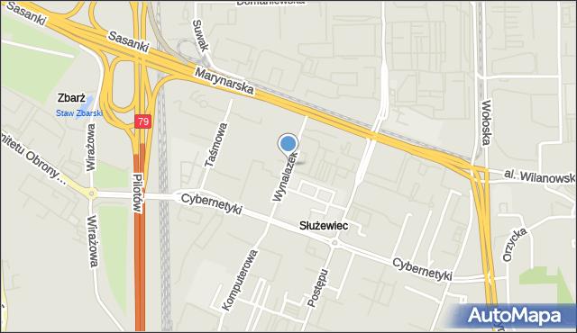 Warszawa, Wynalazek, mapa Warszawy