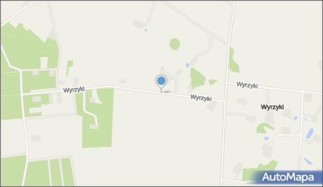 Wyrzyki gmina Świercze, Wyrzyki, mapa Wyrzyki gmina Świercze