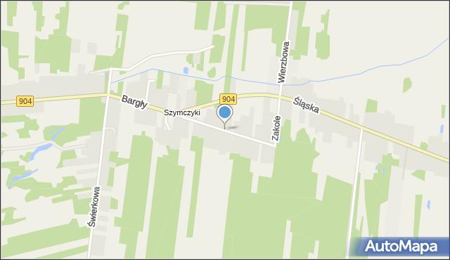 Bargły, Zakole, mapa Bargły