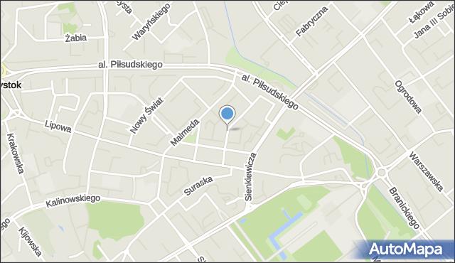 Białystok, Zamenhofa Ludwika, dr., mapa Białegostoku
