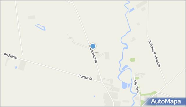 Bronowo gmina Wizna, Zachodnia, mapa Bronowo gmina Wizna
