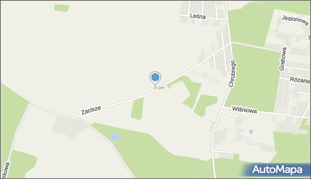Brzezina gmina Miękinia, Zacisze, mapa Brzezina gmina Miękinia