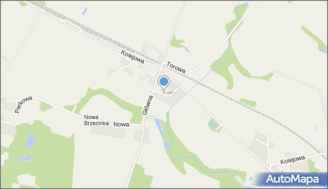 Brzezinka Średzka, Zakole, mapa Brzezinka Średzka