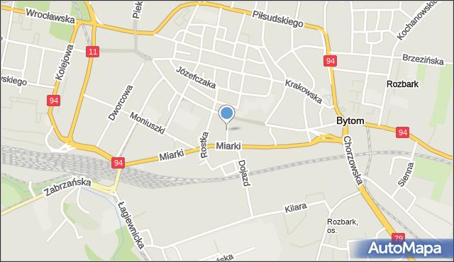 Bytom, Zamenhofa Ludwika, dr., mapa Bytomia