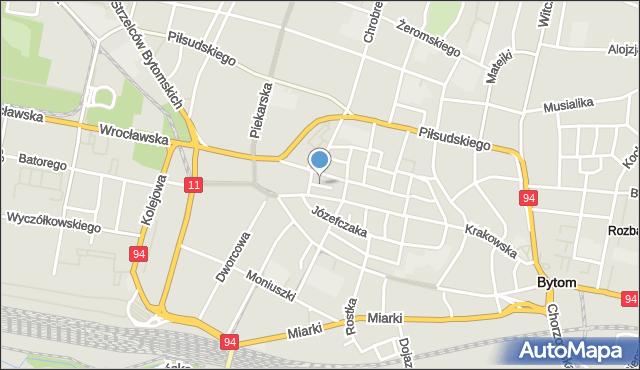Bytom, Zaułek, mapa Bytomia