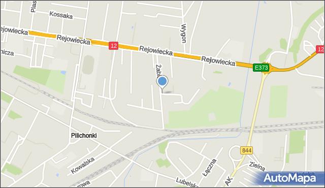 Chełm, Żabia, mapa Chełma