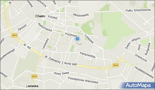 Chełm, Zamojska, mapa Chełma