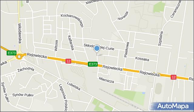 Chełm, Zapolskiej Gabrieli, mapa Chełma