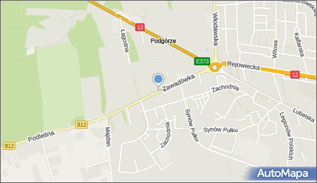 Chełm, Zawadówka, mapa Chełma